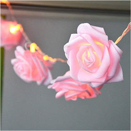 Chiny BO Valentine's Rose LED Lights String Pink 7.2ft With Timer Remote Control 8 trybów fabryka